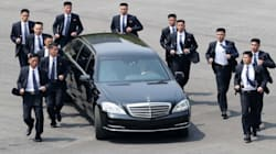 Kim Jong Un's Bevy Of Bodyguards Are Back — And Yes, They're Still