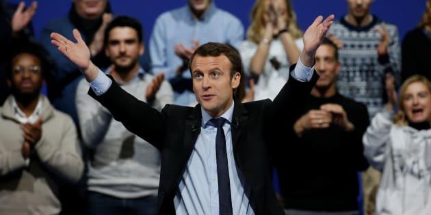 Emmanuel Macron, au Zénith de Lille REUTERS/Pascal Rossignol