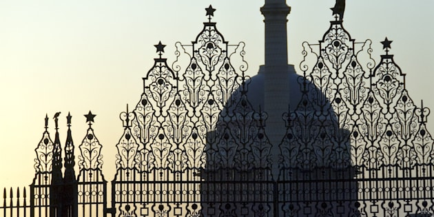 The Rashtrapati Bhavan, residence of the President of India, New Delhi, India.