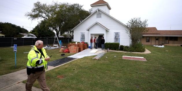 L'église First Baptist de Sutherland Springs, au Texas, le 9 novembre.