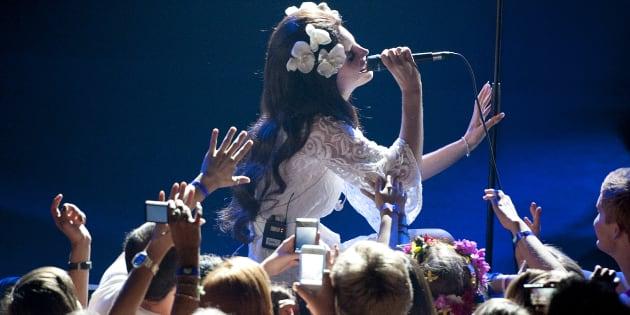 Lana Del Rey au festival de Jazz de Montreux le 4 juillet 2012