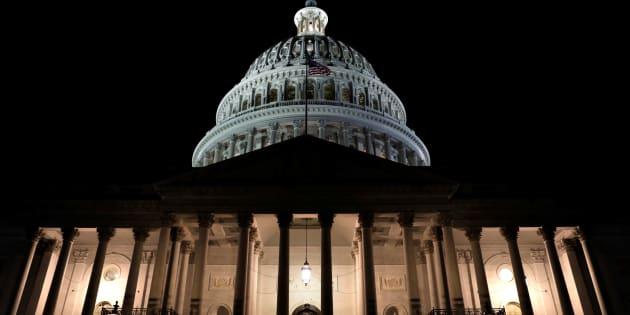 """Le Capitol de Washington après le """"shutdown"""", le 20 janvier."""