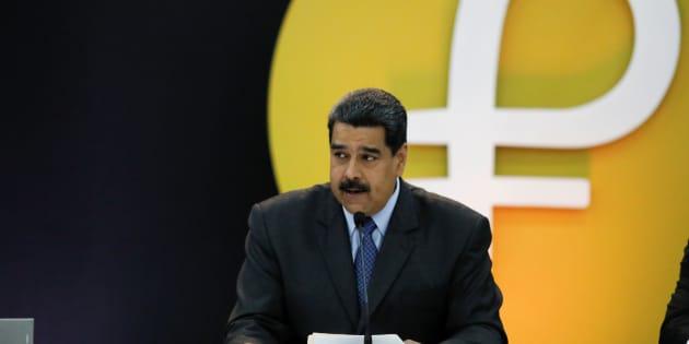 Nicolás Maduro presenta la moneda digital venezolana.