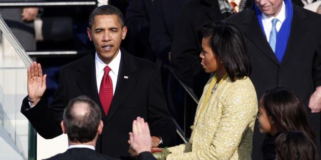 Parmi les pires couacs des cérémonies d'investiture américaines: l'erreur de Barack Obama lors de sa première prestation de serment.