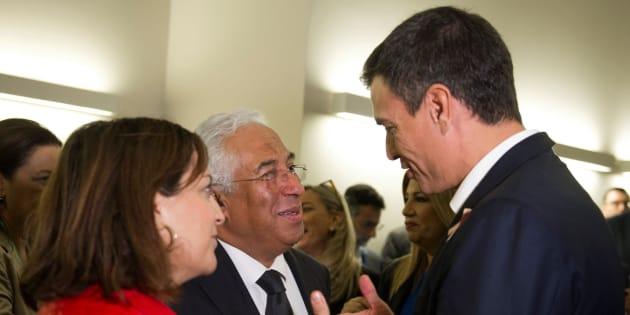 Pedro Sánchez con el primer ministro de Portugal, Antonio Costa, en un encuentro la semana pasada en Bruselas.