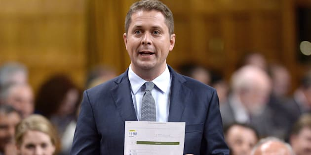 Conservative Leader Andrew Scheer rises during question period in the House of Commons on Parliament Hill in Ottawa on June 20, 2018.