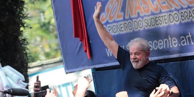O ex-presidente Luiz Inácio Lula da Silva está preso desde 7 abril na Polícia Federal, em Curitiba.