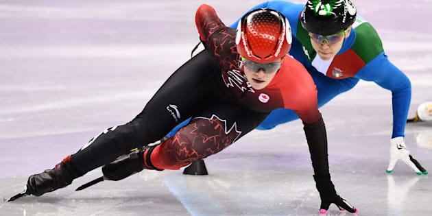 Canada's Kim Boutin competes in the women's 1,000-metre event.