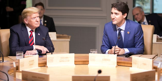 Prime Minister Justin Trudeau U.S. President Donald Trump at the G7 Summit in La Malbaie, QC, on June 8.