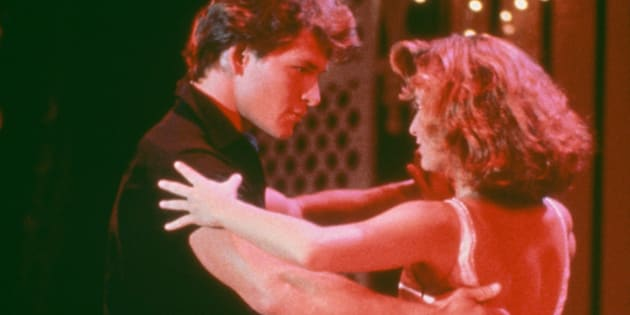 "Patrick Swayze and Jennifer Grey in ""Dirty Dancing."""