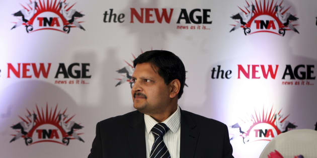 Atul Gupta at the launch of the new national daily newspaper, called The New Age, in Sandton.