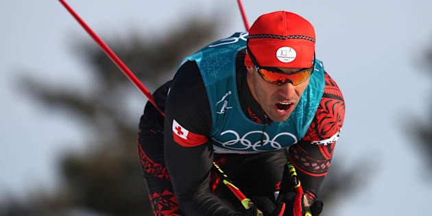 PYEONGCHANG-GUN, SOUTH KOREA - FEBRUARY 16:  Pita Taufatofua of Tonga competes during the Cross-Country Skiing Men's 15km Free at Alpensia Cross-Country Centre on February 16, 2018 in Pyeongchang-gun, South Korea.  (Photo by Clive Mason/Getty Images)