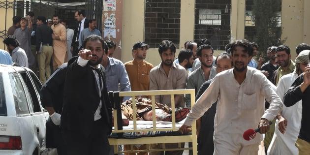 Dozens died in the attack in Quetta.
