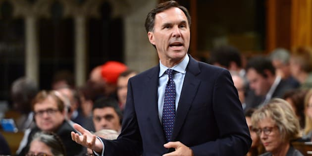Finance Minister Bill Morneau stands during question period in the House of Commons on Parliament Hill in Ottawa on Sept. 21, 2017.