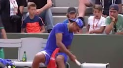 Four Boys Watch In Delight And Astonishment As Nick Kyrgios Smashes