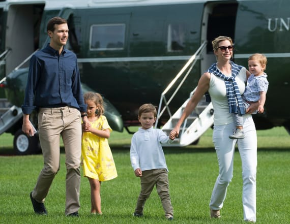 Chopper carrying Ivanka, Jared lands after failure