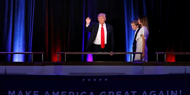Donald Trump, son fil Barron et sa femme Melania (illustration)