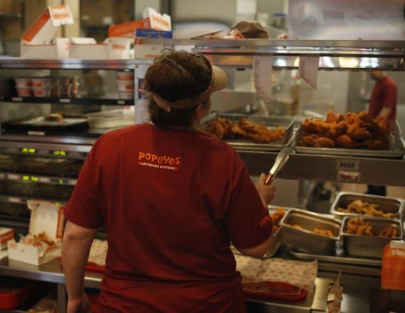 Restaurant slammed for reserving Popeye's chicken