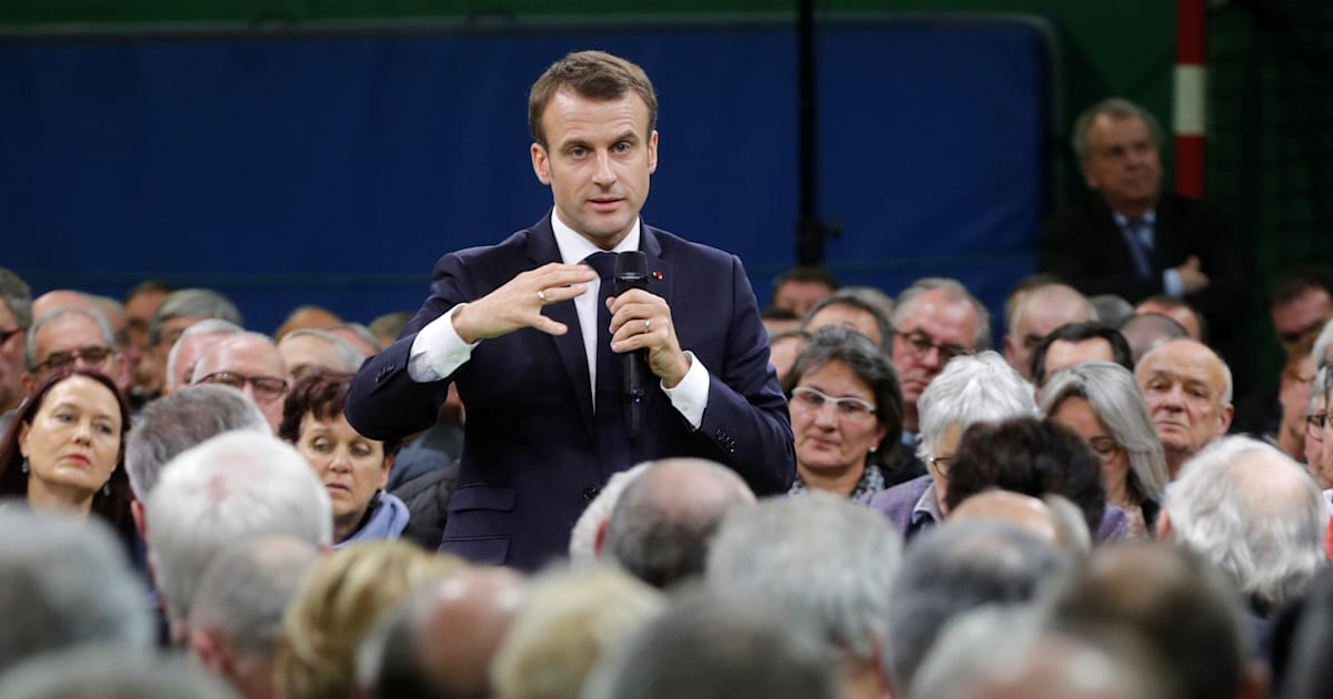To defend the lifting of the ISF, Macron spoke of