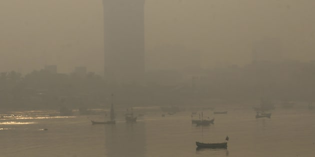 Rafiq Maqbool  Associated Press                       Morning smog shown enveloping the skyline in Mumbai India on Oct. 20 2017