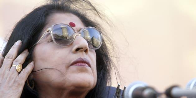Kishori Amonkar Performing at Gateway of India. (Photo by Santosh Harhare/Hindustan Times via Getty Images)