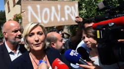 Non, les militants qui ont perturbé la visite de Marine Le Pen n'étaient pas des