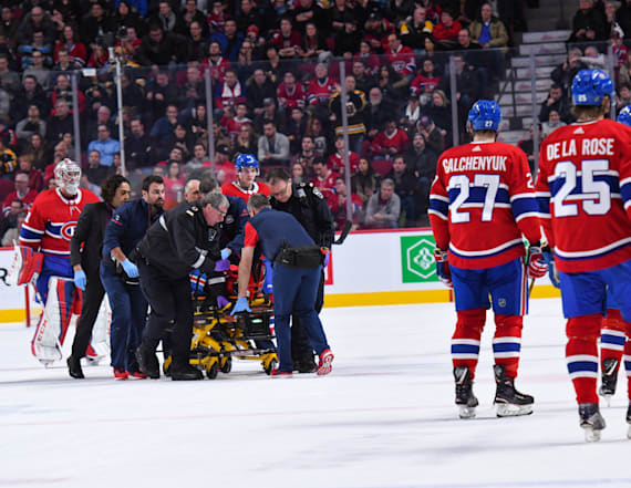 Danault released from hospital after puck to head