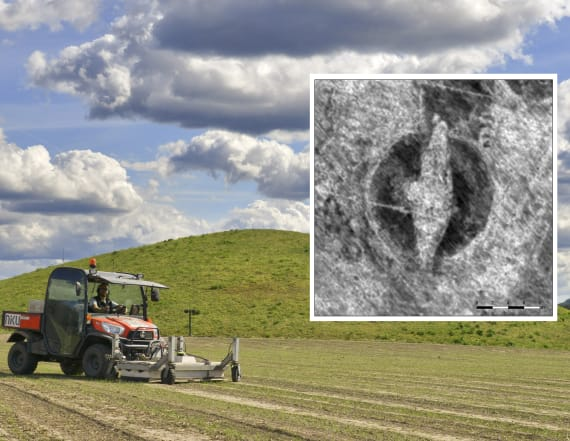 Rare Viking ship found buried on Norwegian farmland