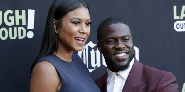 Kevin Hart and Eniko Parrish attends Launch Of Laugh Out Loud hosted by Kevin Hart And Jon Feltheimer on August 03, 2017 in Los Angeles, California. (Mike McGinnis/Getty Images)