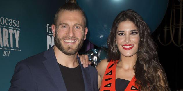 """Lidia Torrent y Matías Roure, durante el acto de """"Fotocasa Party"""" en Madrid el 10 de mayo de 2017."""