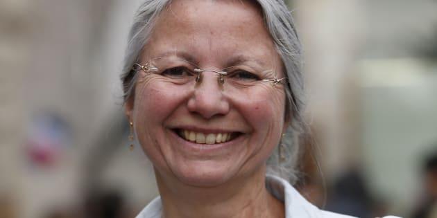 Agnès Thill lors de sa campagne législative victorieuse, au printemps 2017.