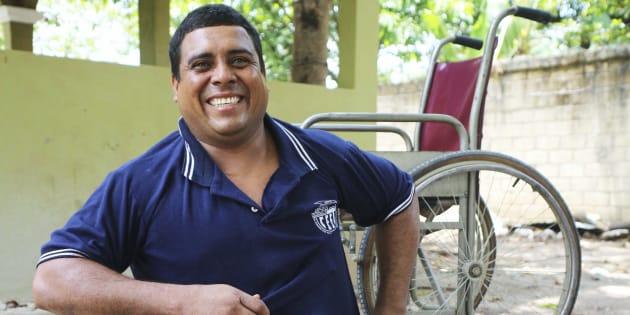 Un migrante y residente del albergue Jesús El Buen Pastor. FOTO: ELIZABETH RUIZ /CUARTOSCURO.COM