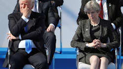 Trump Appears To Shove Foreign Leader Aside At NATO Photo