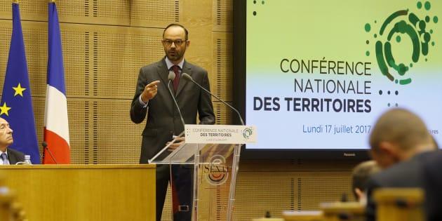 Édouard Philippe le 17 juillet au Sénat, à l'occasion de la Conférence nationale des territoires.