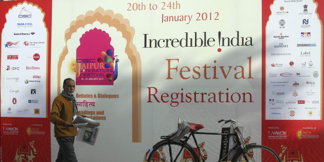 Jaipur Literature Festival, January 22, 2012. REUTERS/Altaf Hussain