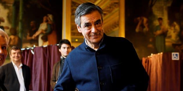 François Fillon lors du vote de la primaire de la droite.