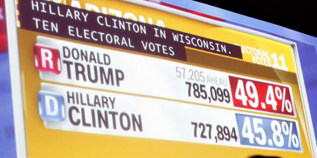 Soirée électorale aux États-Unis le 8 novembre 2016.
