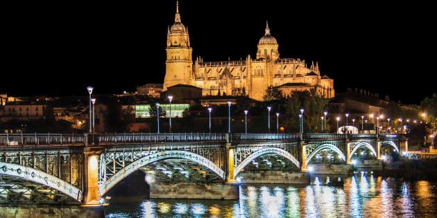 Salamanca, de noche.