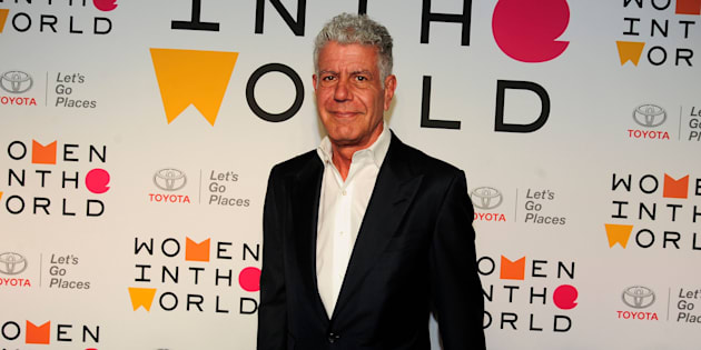 Anthony Bourdain attends the 2018 Women In The World Summit at David H. Koch Theater, Lincoln Center on April 12, 2018 in New York City.