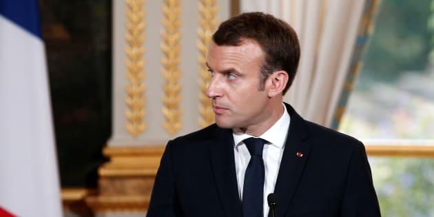 Emmanuel Macron à l'Élysée le 24 octobre.