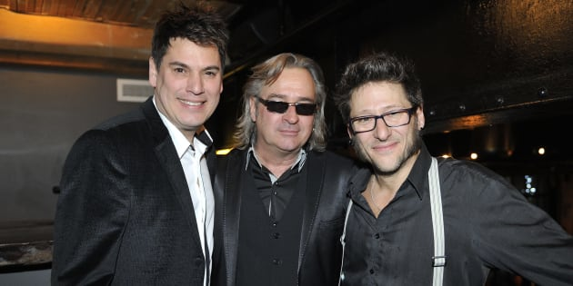 Patrick Bourgeois, Alain Lapointe et Francois Jean lors du lancement de leur dernier album en 2015.