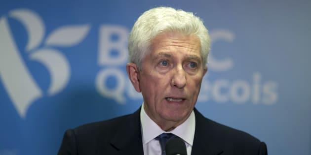 Gilles Duceppe annonce sa démission comme chef du Bloc québécois le 22 octobre 2015, après avoir failli à gagner un siège à l'élection fédérale. REUTERS/Christinne Muschi