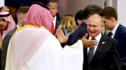L'extase de Poutine et MBS pendant leurs retrouvailles passe
