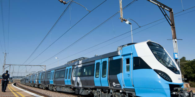 One of Prasa new trains on the track during testing. (Photo by Gallo Images / Beeld / Thapelo Maphakela)