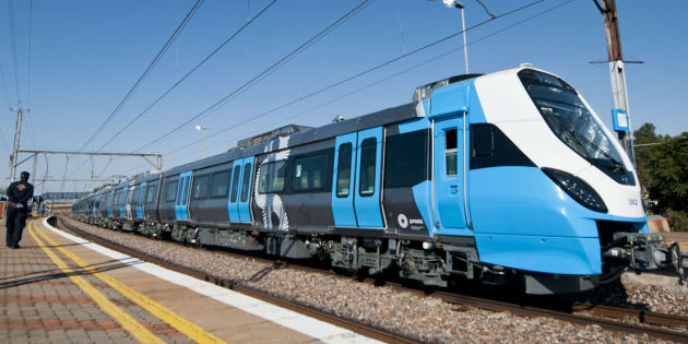 One of Prasa new trains on the track during testing on May 24, 2016 in Pretoria, South Africa.