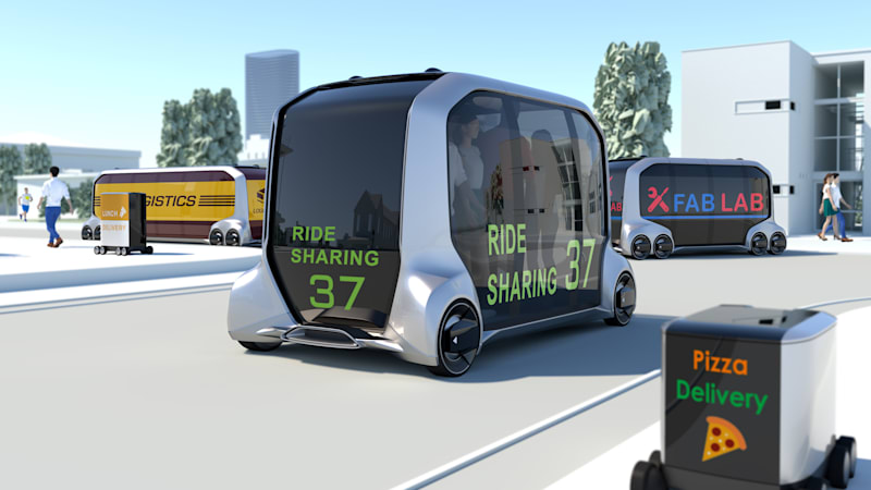 Toyota unveils e-Palette self-driving concept for rides, deliveries