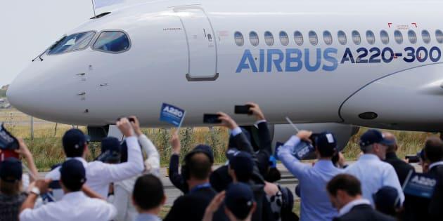 Airbus a dévoilé son modèle A220-300 le 10 juillet dernier.