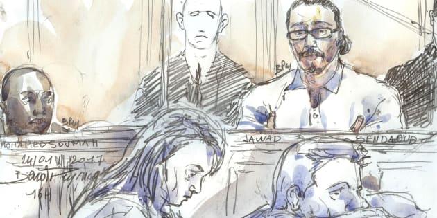 L'avocat de Jawad Bendaoud (ici dessiné lors de son procès le 24 janvier):