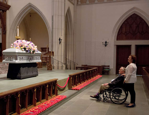 Barbara Bush eulogized by son Jeb in touching moment