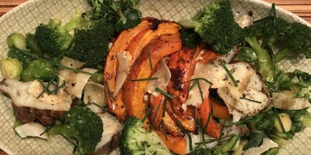 Ma recette, vite fait, bien fait, de légumes d'hiver rôtis.
